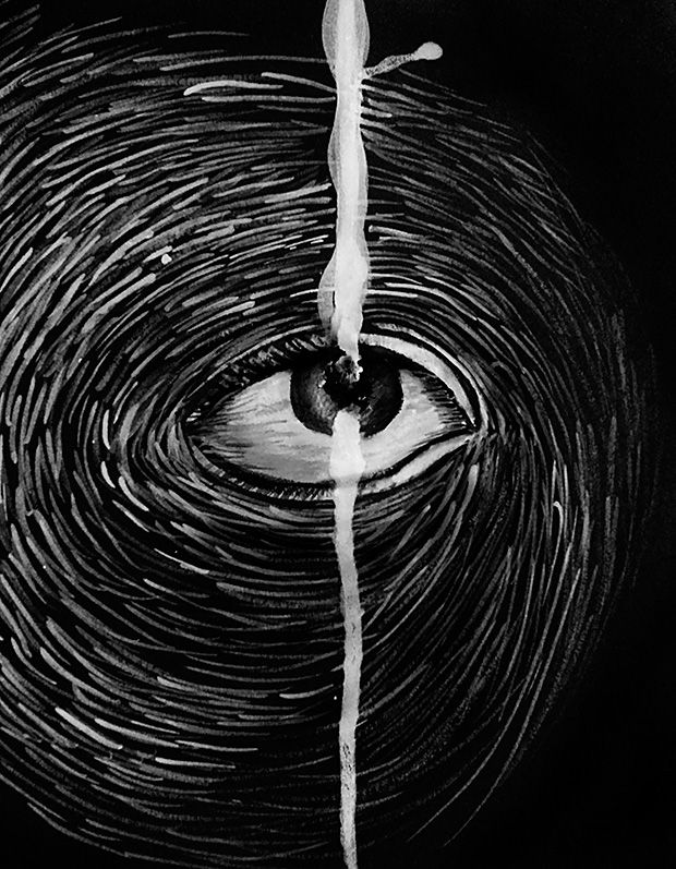 Deja la realidad de tus ojos colgada de un andamio con jirones de mi cuerpo. Purifica la atmósfera con mi sangre petrificada, llora con el cursi corazón que te obsequié impreso en una realidad perfecta. Dibújate imperfecto…  Texto de Avin | Ilustración de Madeline Jasso (Madeja)