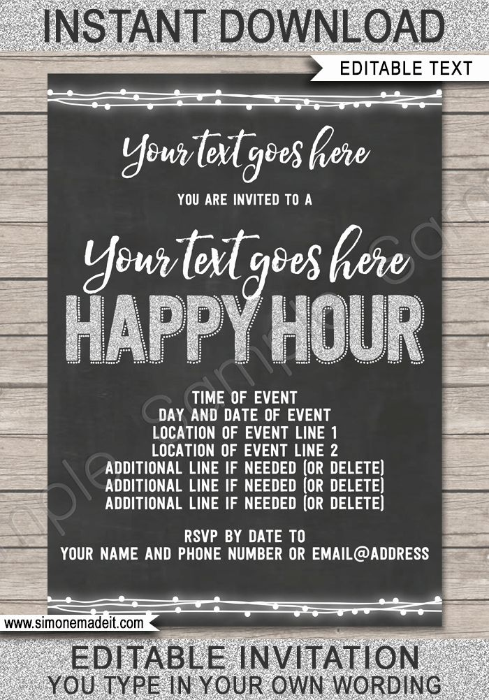 Free Happy Hour Invitation Template Fresh Happy Hour Invite