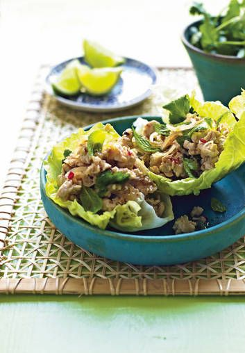 Far from fowl … Thai chicken larb.
