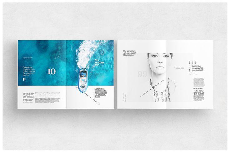 Magazine Template by AlfianBrand™ on @creativemarket