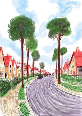 David Hockney, Cardigan Road, Brid