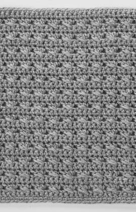 Crochet Cross-Stitched Square - Tutorial ❥ 4U // hf