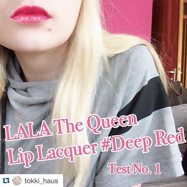 hat uns einen #thequeenliplacquer in Deep Red mitgeschickt zum testen!☺️ #thankyou  Wir werden ihn jetzt erstmal lange testen und dann werdet Ihr den bei uns im Shop am Ende des Jahres finden. #wirliebenihn jetzt schon! #tokkihaus #tokki_haus #lalalove #lalacosmetics #lalaliplacquer #korea #koreancosmetics #koreanischekosmetik #koreanischekosmetikausdeutschland #blogger #bblogger_de #blogger_de