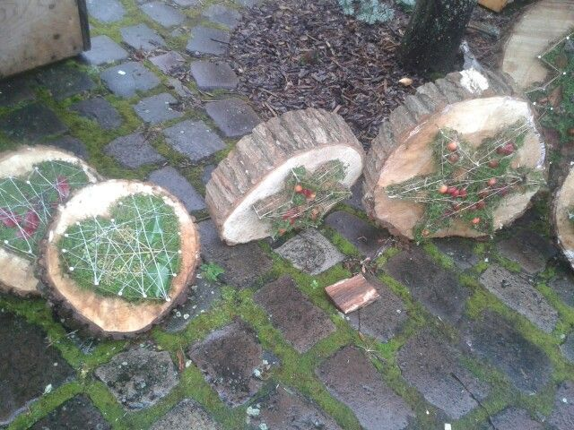 Nagel, Moosbaumscheibe – Deko – weihnachten