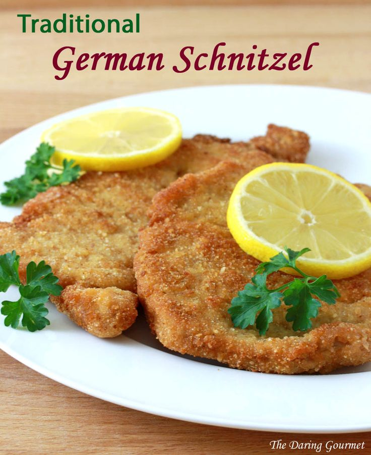 Traditional German Schnitzel.  daringgourmet.com