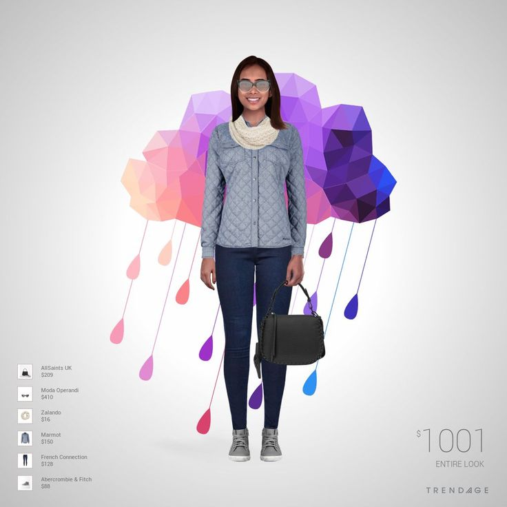 Traje de moda hecho por Viviana usando ropa de French Connection, Marmot, Zalando, Moda Operandi, Abercrombie & Fitch, AllSaints UK. Estilo hecho en Trendage