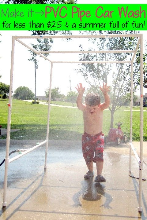 {BEST} PVC Pipe Car Wash Tutorial! - water activity for kids this summer