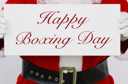 """Happy Boxing Day! The Boxing Day tradition started in England. Boxing Day is a holiday traditionally celebrated the day following Christmas Day, when servants and tradespeople would receive gifts, known as a """"Christmas box"""", from their bosses or employers. Boxing Day is celebrated on December 26th every year in England, Ireland, Australia, Canada, Hong Kong, Kenya, New Zealand, South Africa and Trinidad."""