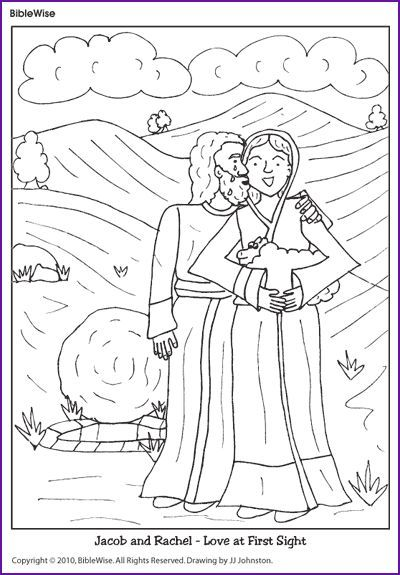 25 best toddler jr church ideas images by tasha fish on for Jacob and rachel coloring page