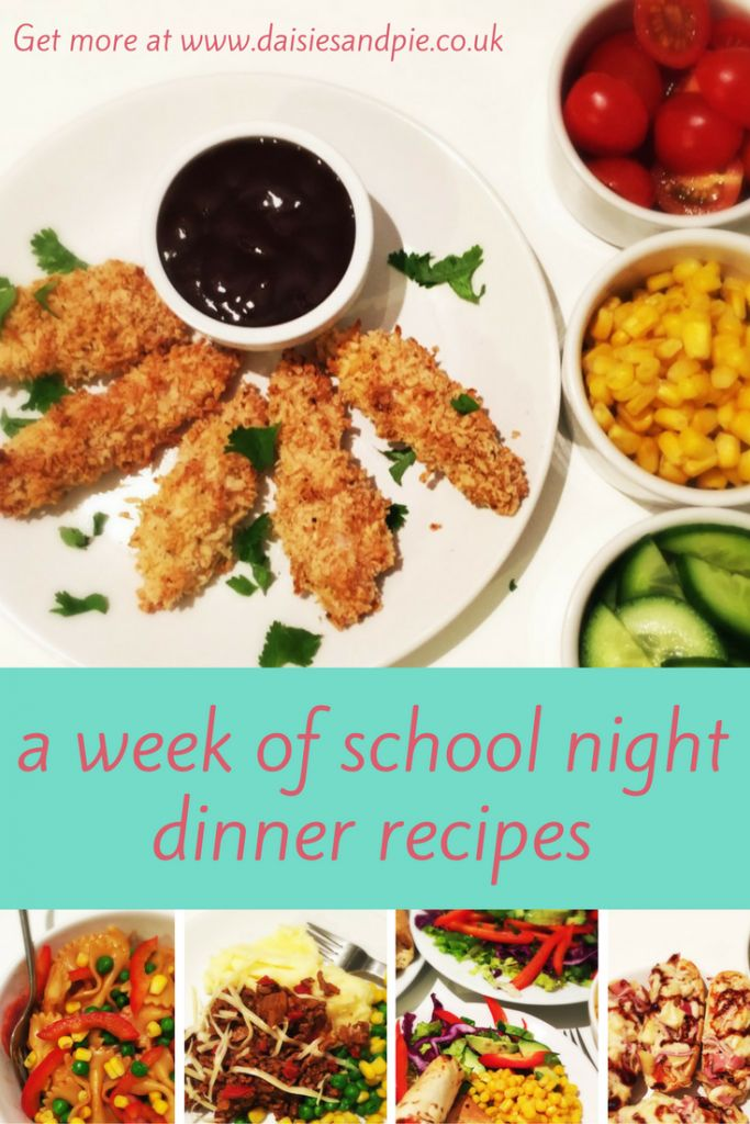 Easy school day dinner ideas, quick and easy dinner recipes for kids that are perfect for school nights | Easy family food from daisies and pie