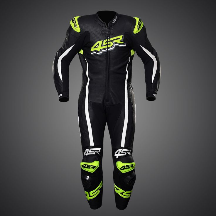 4SR one-piece suit Racing Doctor's Yellow #racingsuit #leathersuit #leathers #1pc #reflective #motorcycle