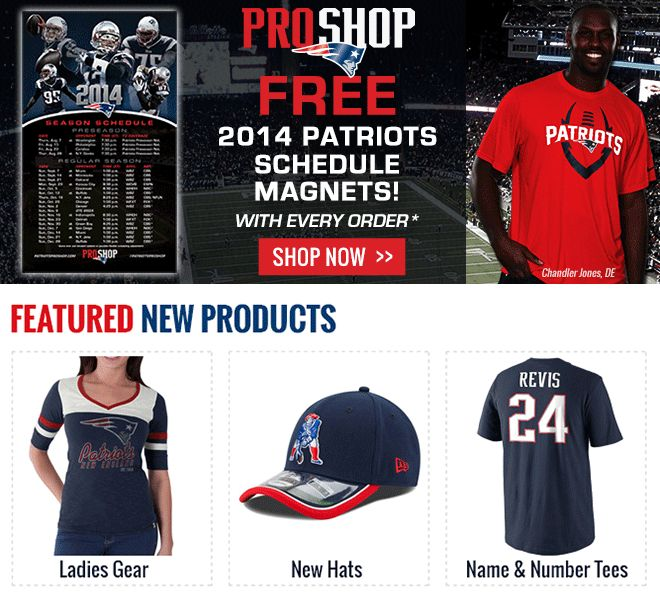 Free 2014 Patriots schedule magnets with every order
