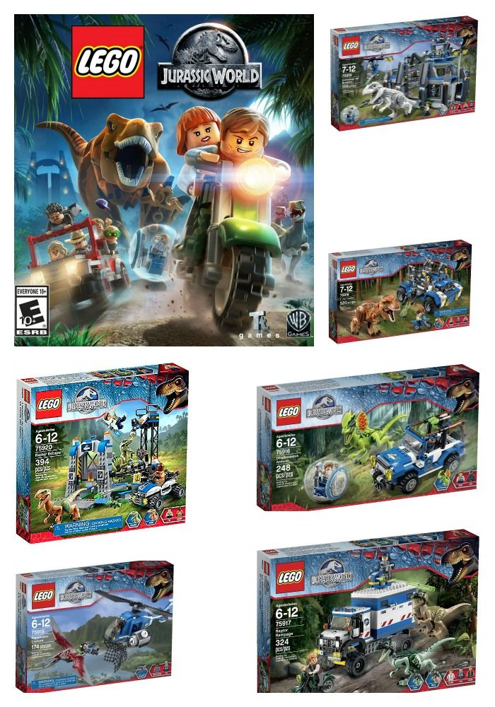 Jurassic World Lego Video Game And Playsets Jurassic