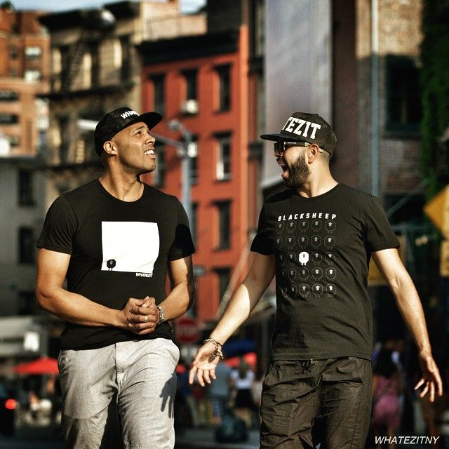 TGIF everyone! (Yes, we are also excited for our upcoming weekend!) #whatezitny #We #weariteverywhere #Hats #StreetFashion #Trend #Brooklyn #newyork #two #laugh #smile #TGIF #Chill #BeCool #GetReady #weekendfun