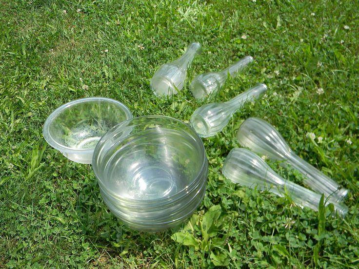 Glass Mushroom Art for the Garden