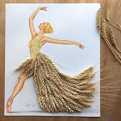 Lady Wheat Dress made out of common wheat