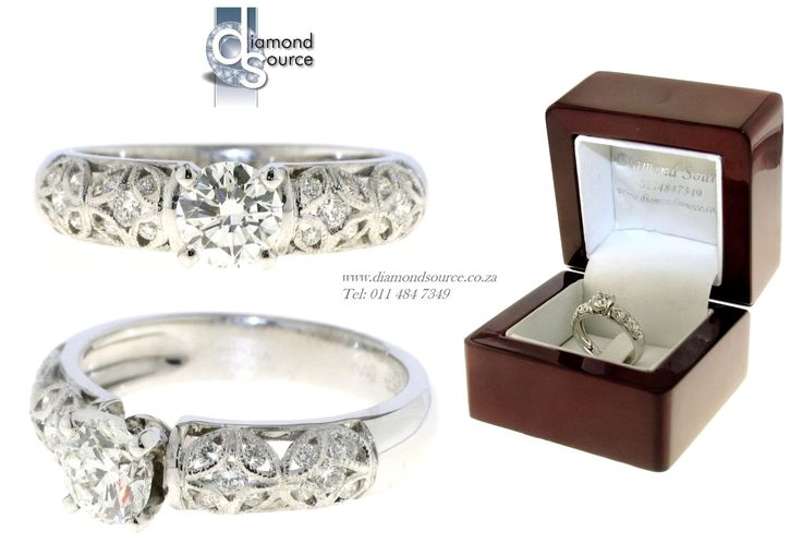 Odelia Design -  This is another one of our most recent commissions featuring an Odelia design diamond ring. This ring we crafted from 18ct. White Gold set with a 0.70ct. Round Brilliant-cut centre diamond. Please email or call us with any queries. FREE QUOTATIONS on any jewellery design you require. E: info@diamondsource.co.za W: www.diamondsource.co.za T: 011 484 7349