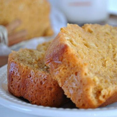 Starbucks Pumpkin Pound Cake.   YUMMY, but a little too sweet for my taste. Will decrease the sugar next time. I also made in a muffin tin. Just decrease cooking time.
