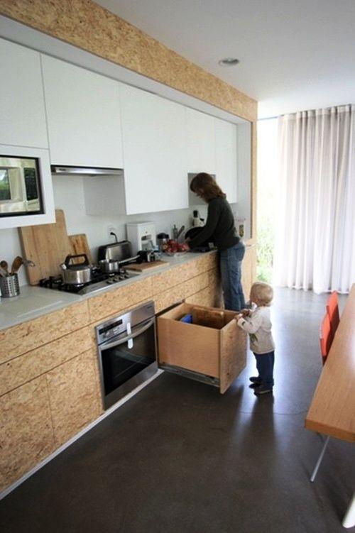 OSB Platten Innenausbau Küchenschränke