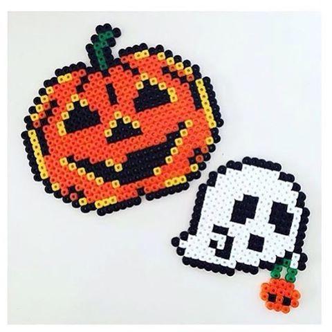 Halloween perler beads by designpuki