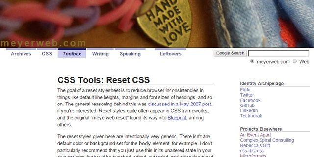 The Best CSS Reset Stylesheets Interwebz Pinterest - new blueprint sites css