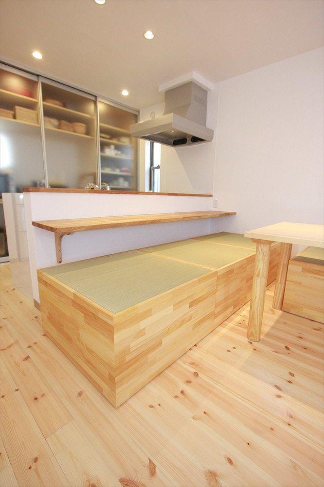 可動式の小上がり和室 住宅リフォーム 小 上がり 和室 小上がり 畳