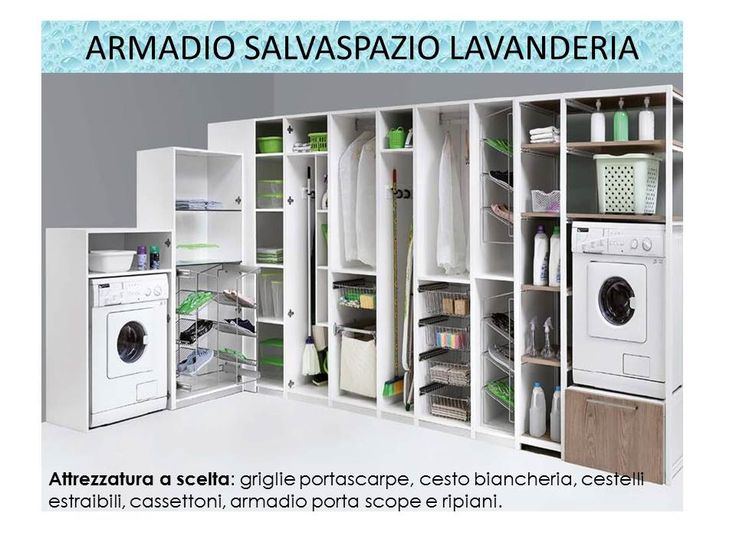 ... Armadio Lavanderia su Pinterest  Lavanderia in bagno, Lavanderia e