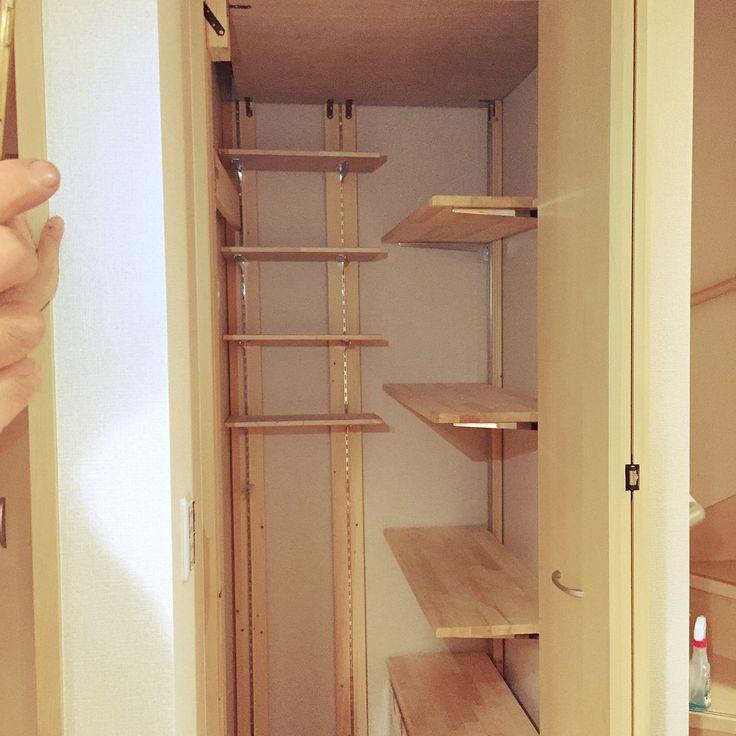 DIY/収納棚…などのインテリア実例 - 2015-09-22 06:02:01 | RoomClip ... 女性で、のDIY/収納棚/階段下収納/My Shelfについて