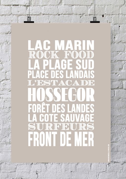 Affiche Bord de mer «Hossegor»