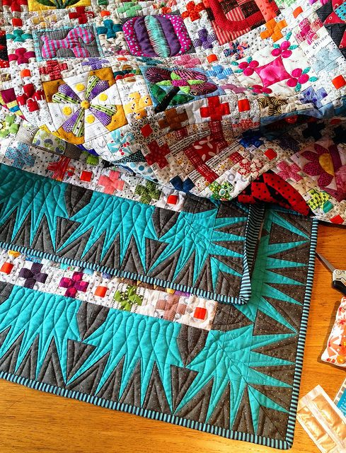 CN Binding by Lorena in Sydney, via Flickr. truly one of the most beautiful quilts i have ever only seen a wee bit of: Symbols Recompos, Colors Combos, Beautiful Quilts, Patchwork Quilts, Blue Ribbons, Amazing Quilts, Ribbons Quilts, Photos Shared, Amazing Jewelry