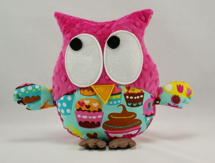 #littlesophie #owl #owls #sowa #cupcake #muffiny #muffinka #pink #fuchsia #plushowl #baby #toy #forkids #madewithlove #handmade #madeinpoland #kids #dzieci #prezent #dziendziecka