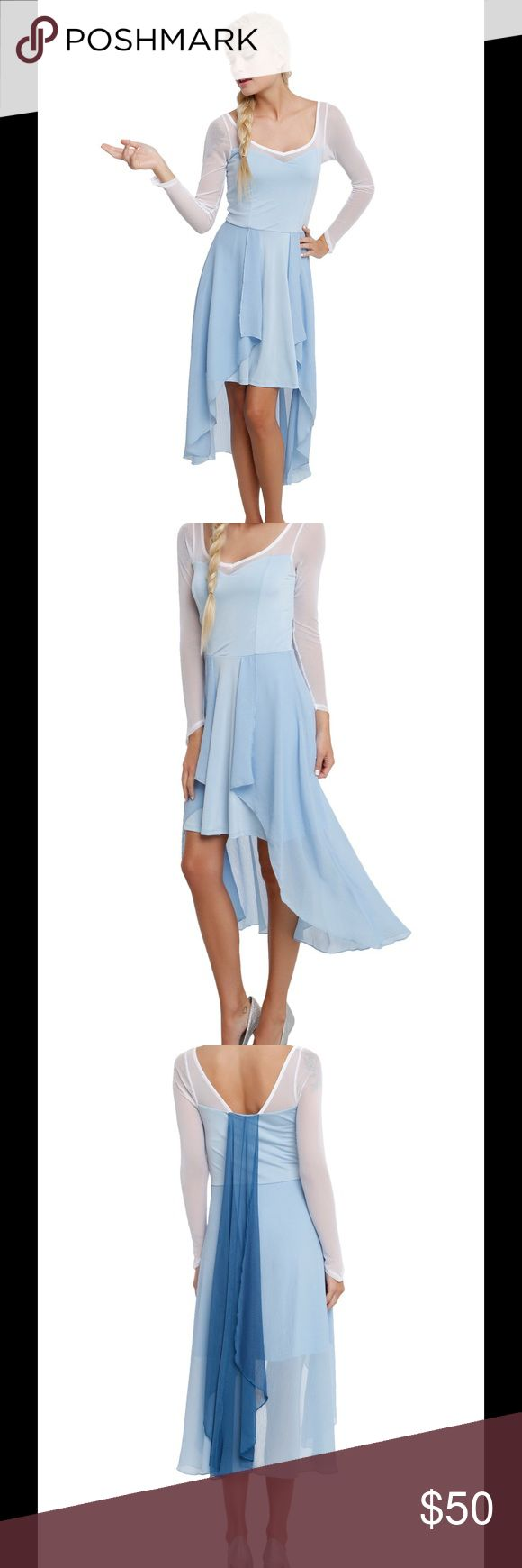 Hot Topic Blue Snow Queen Dress, M Frozen's Queen Elsa high low dress. Perfect for a costume or casual wear! NWT. Hot Topic Dresses High Low