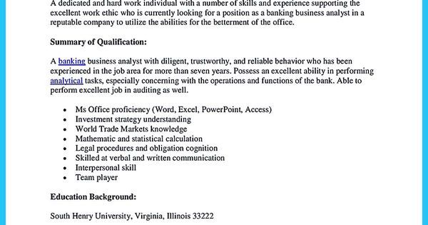 Funeral Director Resume Sales Executive Resume Sample Job - banking business analyst resume