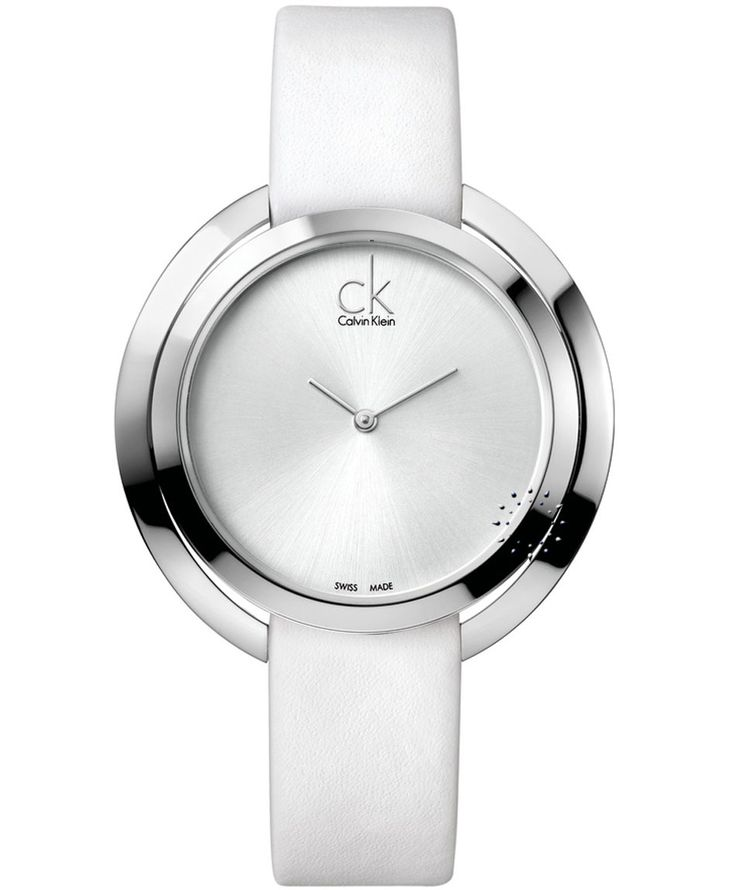 CALVIN KLEIN Aggregate White Leather Strap Η τιμή μας: 246€ http://www.oroloi.gr/product_info.php?products_id=35464