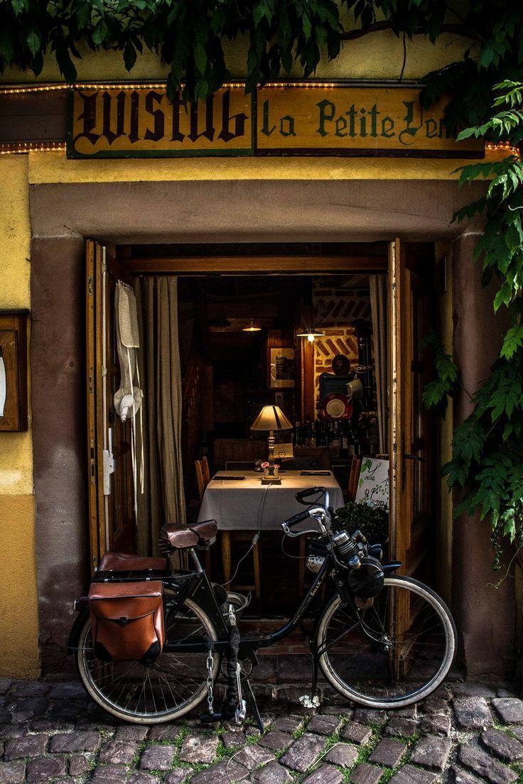 Cafe in Colmar, Alsace, France