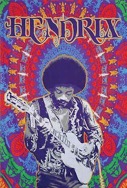 ☮ American Hippie Music   Jimi Hendrix poster