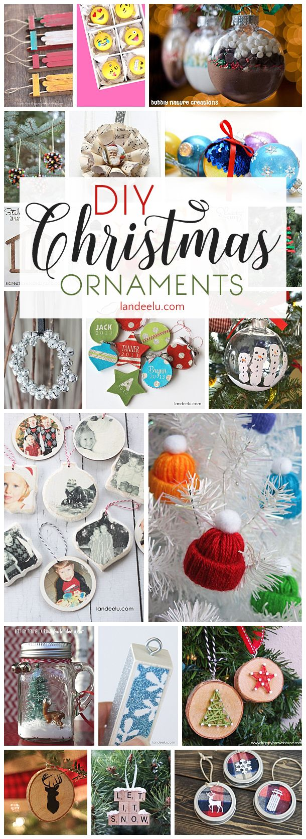 Have a beautiful handmade Christmas with these DIY Christmas ornaments! DIY Christmas Ornaments to Make for a festive do it yourself Holiday! Cheap, Easy and so Pretty on your Christmas Tree this year!