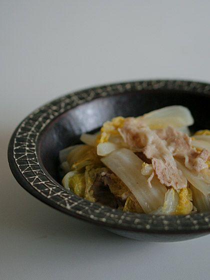 白菜と豚肉の重ね蒸し(Steamed chinese cabbage)
