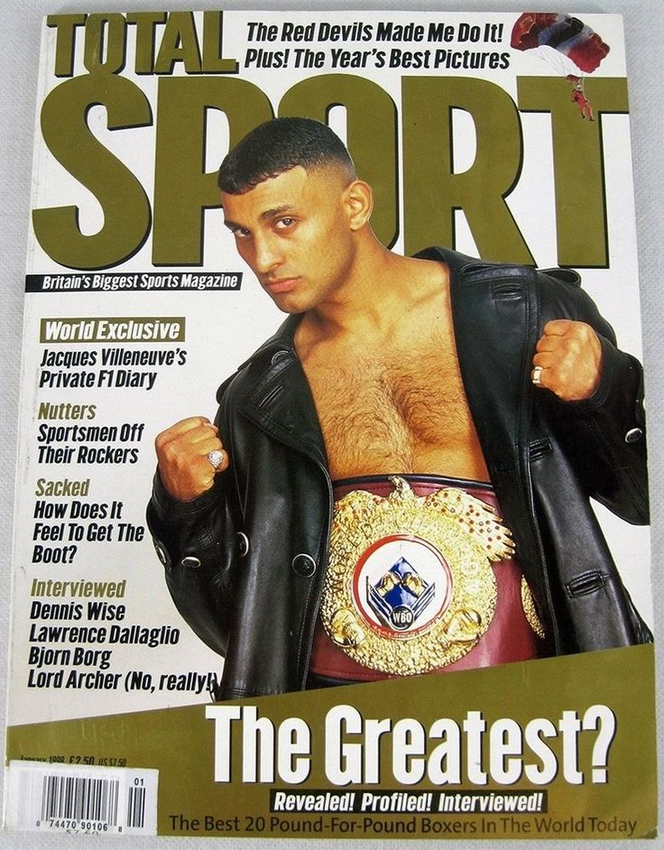 Total Sport Magazine January 1998 Boxing Amir Khan Tennis Bjorn Borg Import OOP Sports