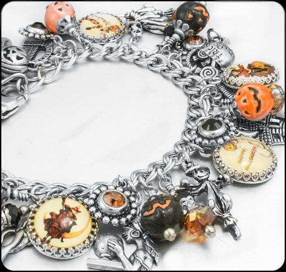 Pumpkin Halloween Jewelry Halloween Charm by BlackberryDesigns