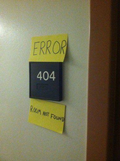 Oh, the dreaded 404 error!