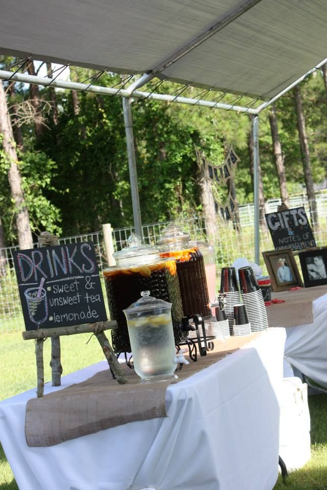 Drink table at Brads grad party | Table settings | Pinterest