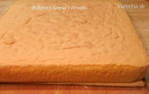 Piškotový korpus z 10 vajec (fotorecept)