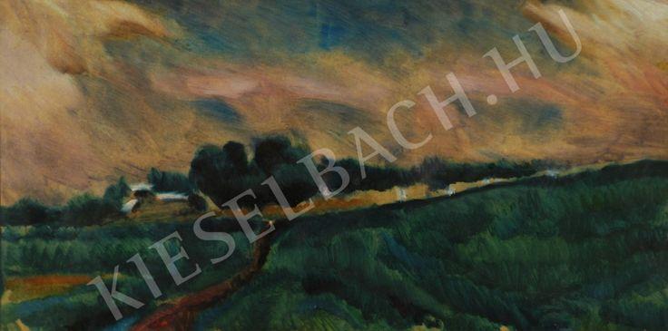 Stormy landscape - Landscape - Painting - Kieselbach Gallery