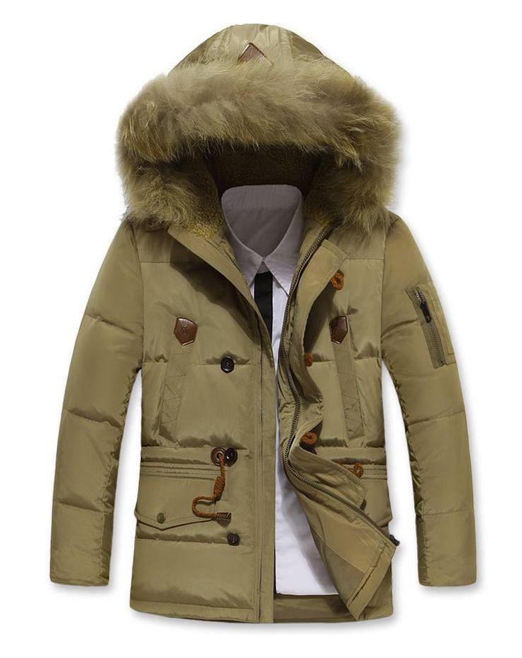 Высокое качество супер теплый человека длинный пуховик мода пуховик Winterwear белая утка вниз M-3XL JK-355
