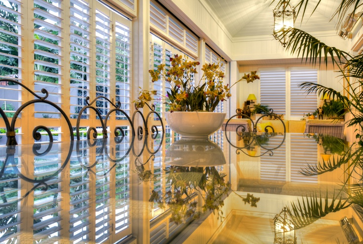 Outdoor Living Areas with Aluminum Shutters = Beautiful shutters.