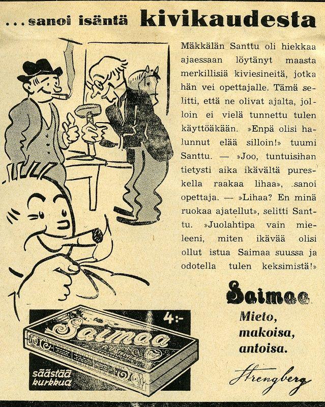 Strengberg #Saimaa #savukkeet #tupakka #kivikausi