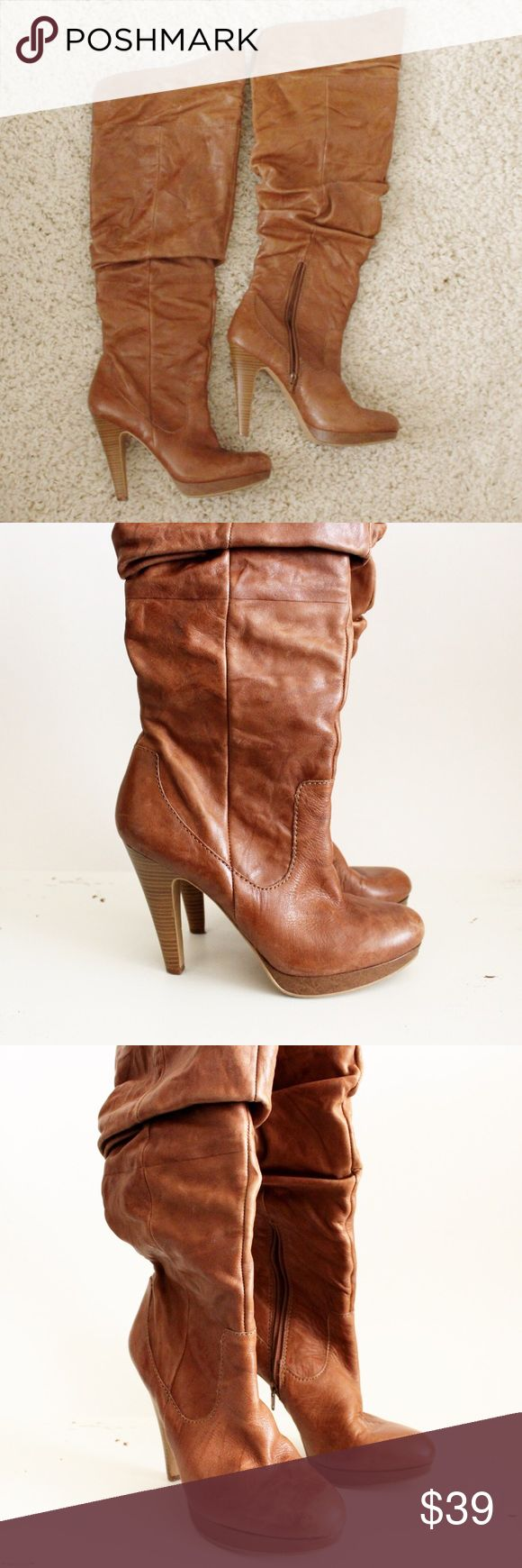 Jessica Simpson tall camel boot These are very comfortable only worn 2-3 times. Size 8. Jessica Simpson Shoes Over the Knee Boots