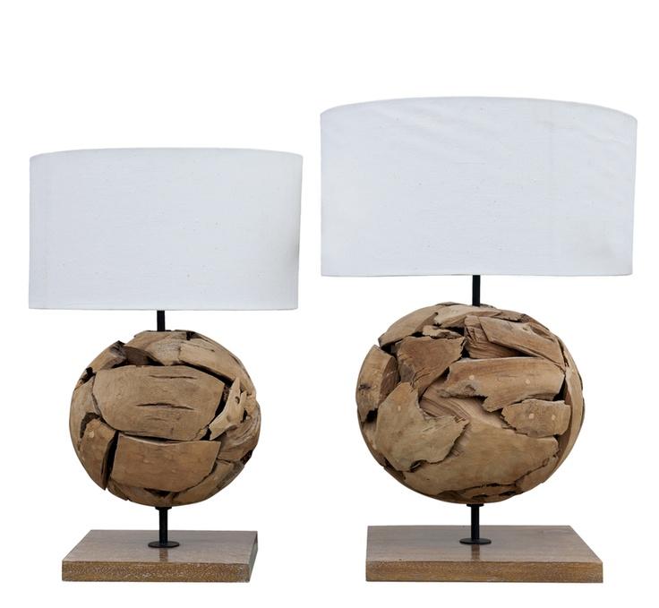 Lámpara de mesa rústica  www.amoble.cl