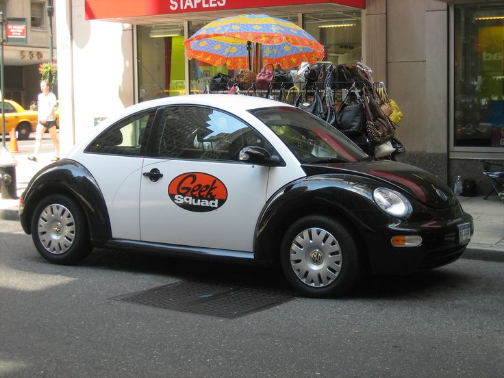 "PROMO-BUG: 2006 ""Dorkbug."" Black and white used by the Geek computer service"